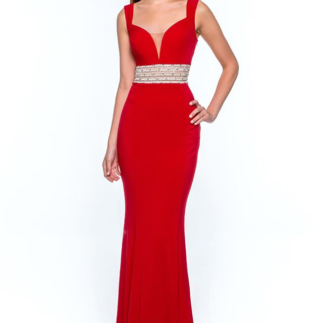 Red Terani Couture Dress