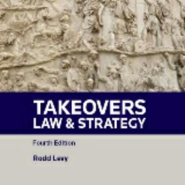 Rodd Levy Takeovers : Law and Strategy