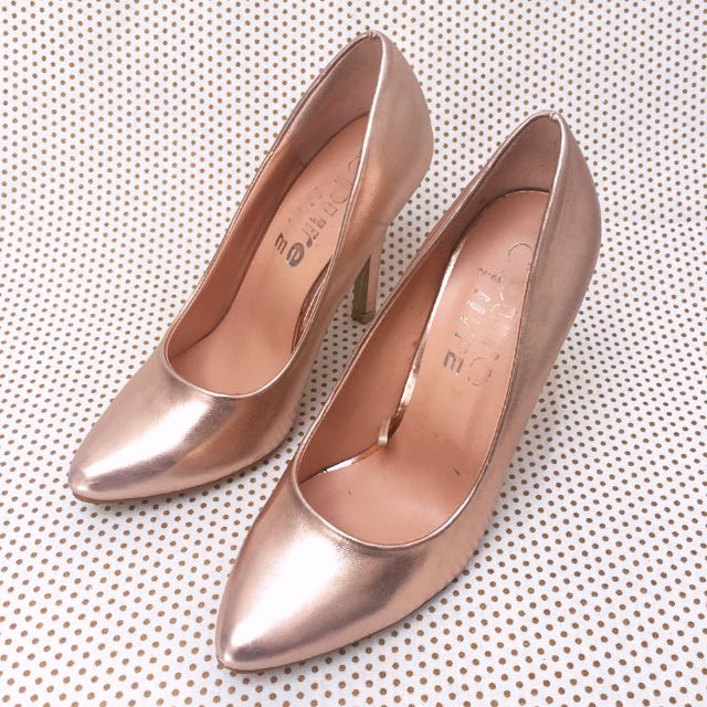 Rose Gold Pointed Toe Pump