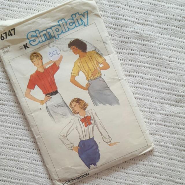 SIMPLICITY classic Shirt Pattern
