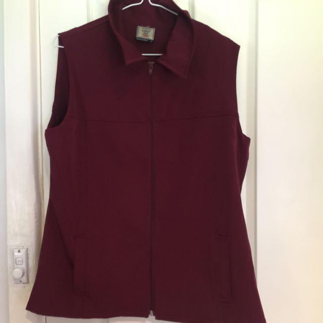 Small Burgundy Sleeveless Coat
