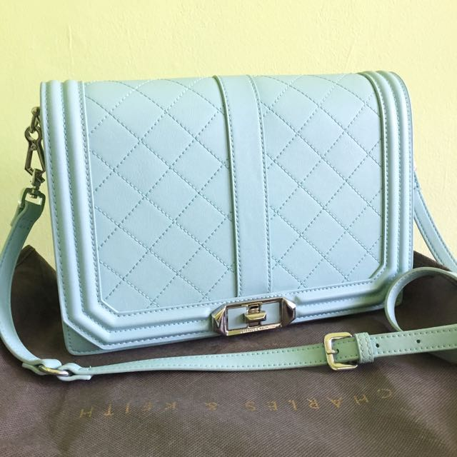 Tas Charles & Keith Baby Blue ORIGINAL