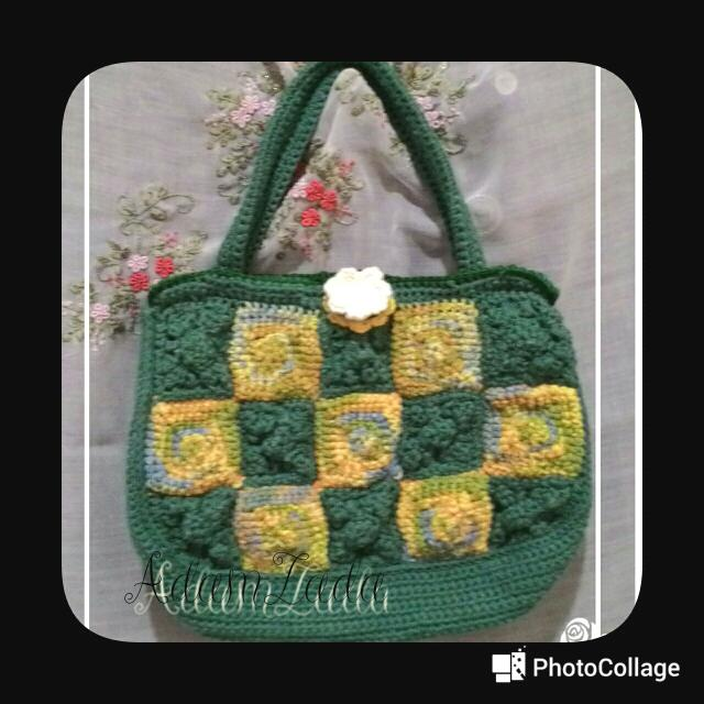 Tas Rajut Bottle Green