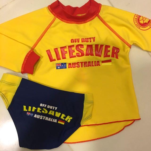 b7fe2f8074 Toddler Boy Swim Set, Babies & Kids, Babies Apparel on Carousell
