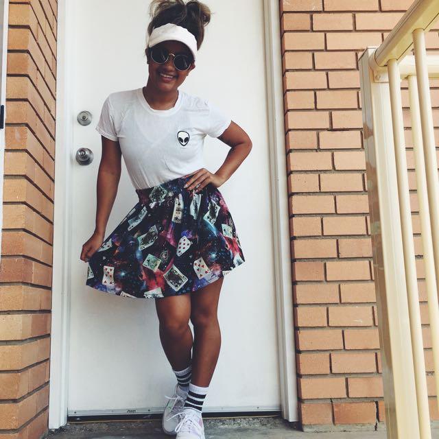 'Tricolour' Galaxy Skirt / XS