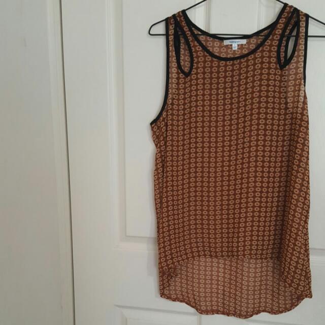 VALLEYGIRL brown Pattern Top