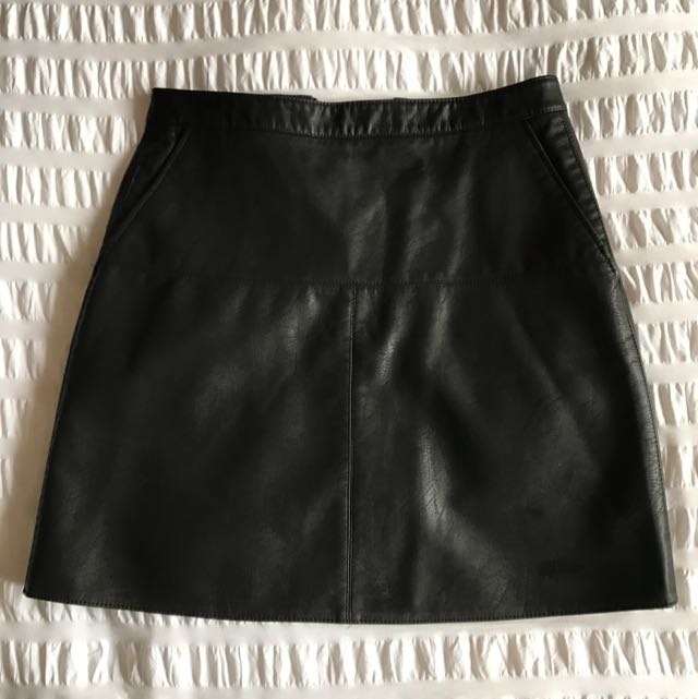 Zara Leather Skirt Size Small