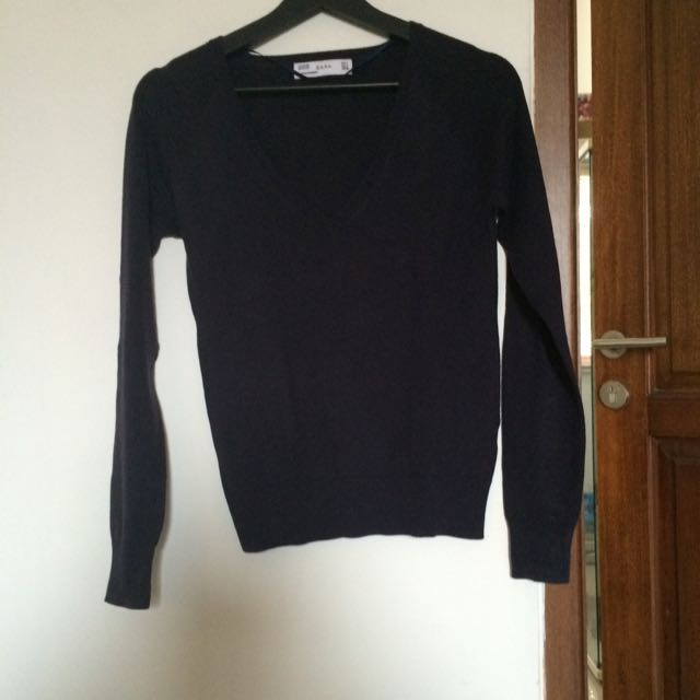 Zara Navy Sweater