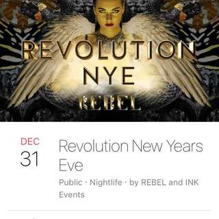 2 Revolution NYE Tickets Rebel Nightclub Toronto