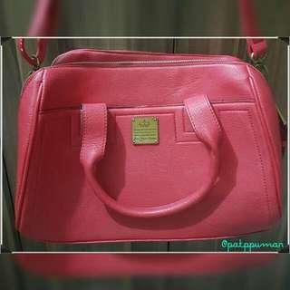 Sophie Paris red bowler bag