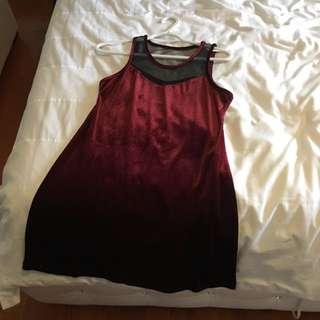 Dark Red Xmas Dress