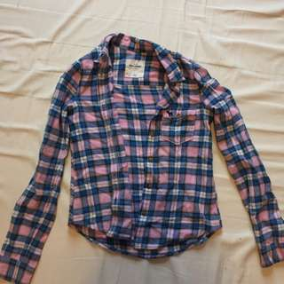 Abercrombie Flannel Size M