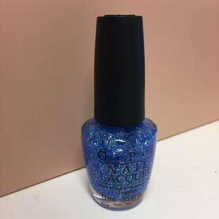 NEW OPI Authentic Full Size - Blue Glitter Nail Polish - Katy Perry Collection - Last Friday Night