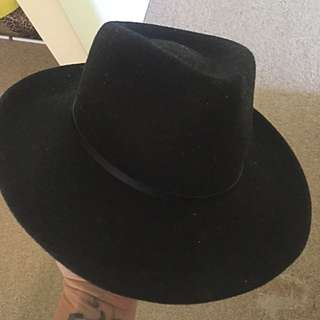 Women's Black Fedora Hat