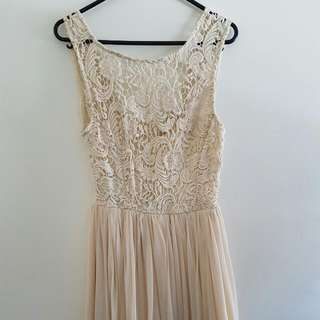 Cream Lace and Crochet Dress size S