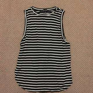 The Fifth Label Black and White Muscle Tank Size S
