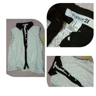 Blouse Lace Forever21. Size M
