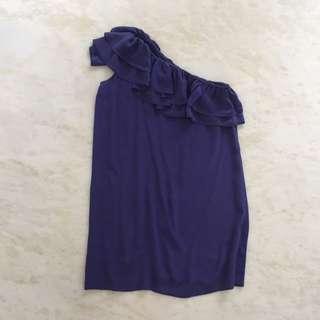 Topshop Blue Silk Dress