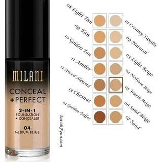 <pre-order> Milani Conceal + Perfect 2-in-1 Foundation + Concealer