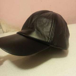 Faux Leather hat
