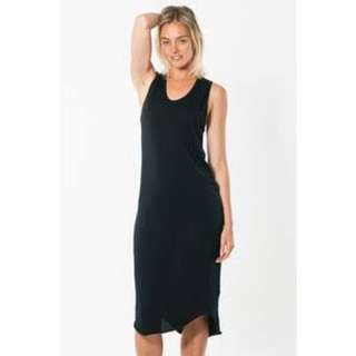 BASSIKE BLACK TANK DRESS SIZE MEDIUM