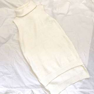 Ice Sleeveless Turtleneck Long Top