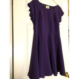 Purple Open-Back Cocktail Dress