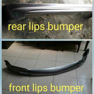 Rear and front bumper lips for honda jazz (mugen version)