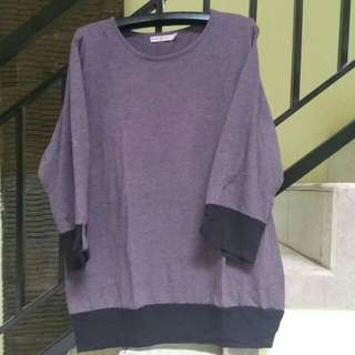 Style n Chic Sweatshirt Purple