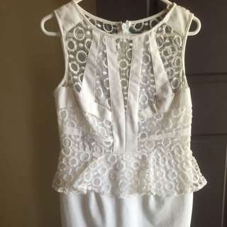 White Lace Dress Size 12