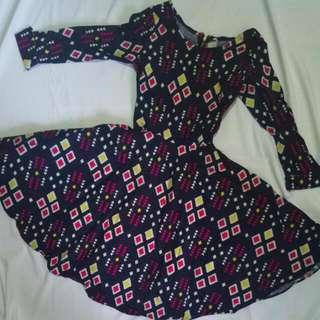 Pattern Flare Dress