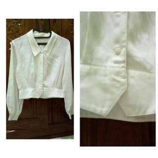 Crop White Shirt