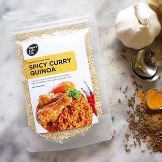 Organic Spicy Curry Quinoa Convenient Pack. Cooks in 10 -15 mins and serves 1-2 meals!