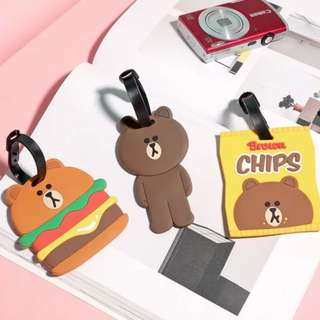 Line friends Brown luggage Tag