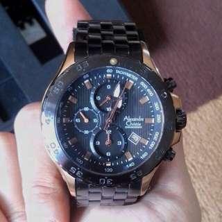 💖Alexander Christie Black & Gold Watch