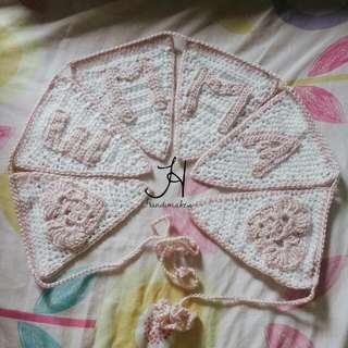 Custom Crochet Bunting With Name