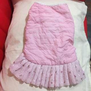 粉紅紗裙可愛狗衣