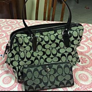 Coach Authentic Hand Bag And Wallet