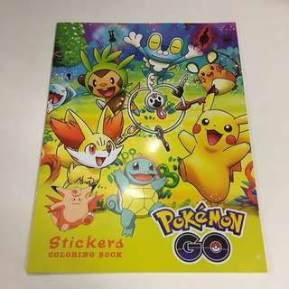 Pokemon Sticker And Colouring Book