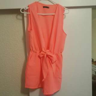 coral plunge playsuit
