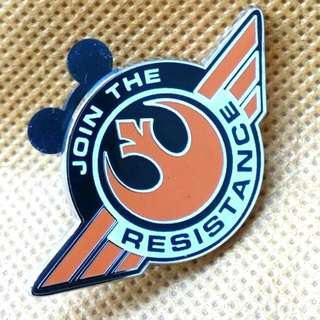 (已送出) Star Wars Resistance The Force Awakens 星球大戰 襟章 襟針 HK Disneyland Disney 星戰