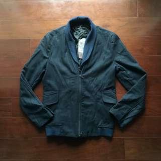 casual corner深藍毛呢夾克外套