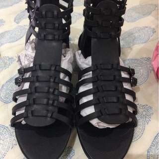 Misguided Black Sandals
