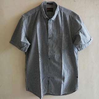 HAMMER - Slim Fit + Slim Collar Checkerboard Shirt