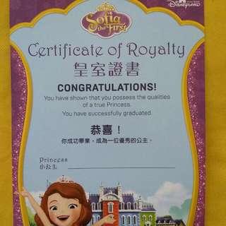 HK Disneyland Disney Sofia 蘇菲亞 小公主 公主 我的公主手冊 粉飾雍容外表 展現出公主氣質