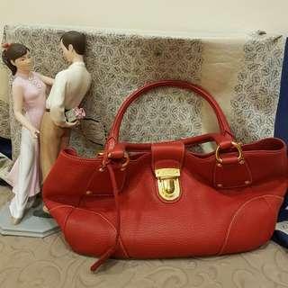 Prada Vitello Diano Double Handle Shoulder Bag
