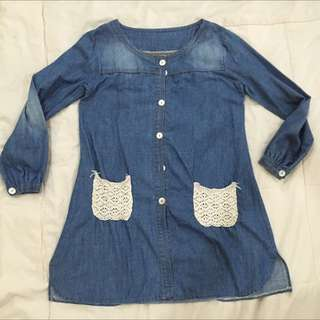 Kawaii Korea Jeans Blouse