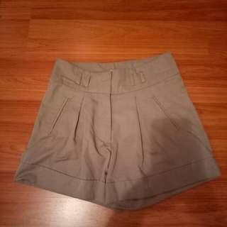 Grey High-waisted Shorts