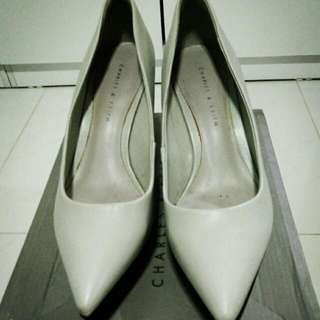 Grey Charles & Keith Wedges