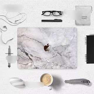 Abstract Grey Dissolve Granite Marble Macbook Vinyl Decal